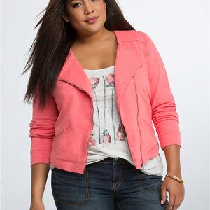 NEW Torrid Knit Moto Jacket Cotton 4X
